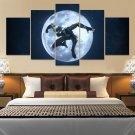 Black Moon Spider Man Canvas Wall Art  Framed Decor Poster Print