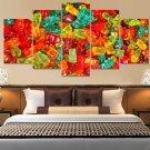 Candy Gummy Bears Canvas Wall Art  Framed Decor Poster Print