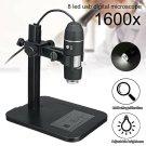 1600X 8 LED USB Digital Microscope Endoscope 5 segment Zoom Camera Magnifier Kit