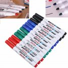 12x 4 Color Whiteboard Marker Pen White Board Dry-Erase Mark Sign Bullet Ink Tip