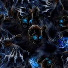 Water Transfer Print Skull Film PVA Dipping Hydrographics Blue Eyes 0.5m x 2m