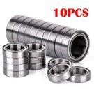 10pcs 10x15x4 mm 6700ZZ Steel Metal Shielded Ball Bearings Thin Wall Roller Set