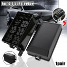 Automotive Car Fuse Relay Holder 12-Slot Relay Box 6 Relays 6 ATC/ATO Fuses New