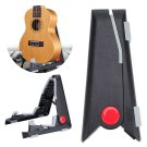 Folding Guitar Stand Foldable A-frame Music Electric Ukulele Bass Guitar Black