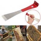 J Shape Beekeeper Bee Hive Kits Beekeeping Hook Stainless Steel Handle Scraper