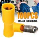 100Pcs 12-10 Bullet Butt Wire Connector Male & Female Electrical Crimp Terminals