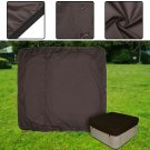 Tub Spa Cover Cap Waterproof Dust Protector Square Case Oxford Fabric Brown