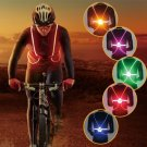 Light Up LED Reflective Safety Belt Vest Strap Night Running Cycling Glow Flash