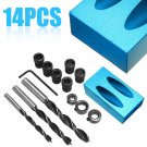 1 set Pocket Hole Screw Jig with Dowel Drill Set Carpenters Wood Joint Tool DIY