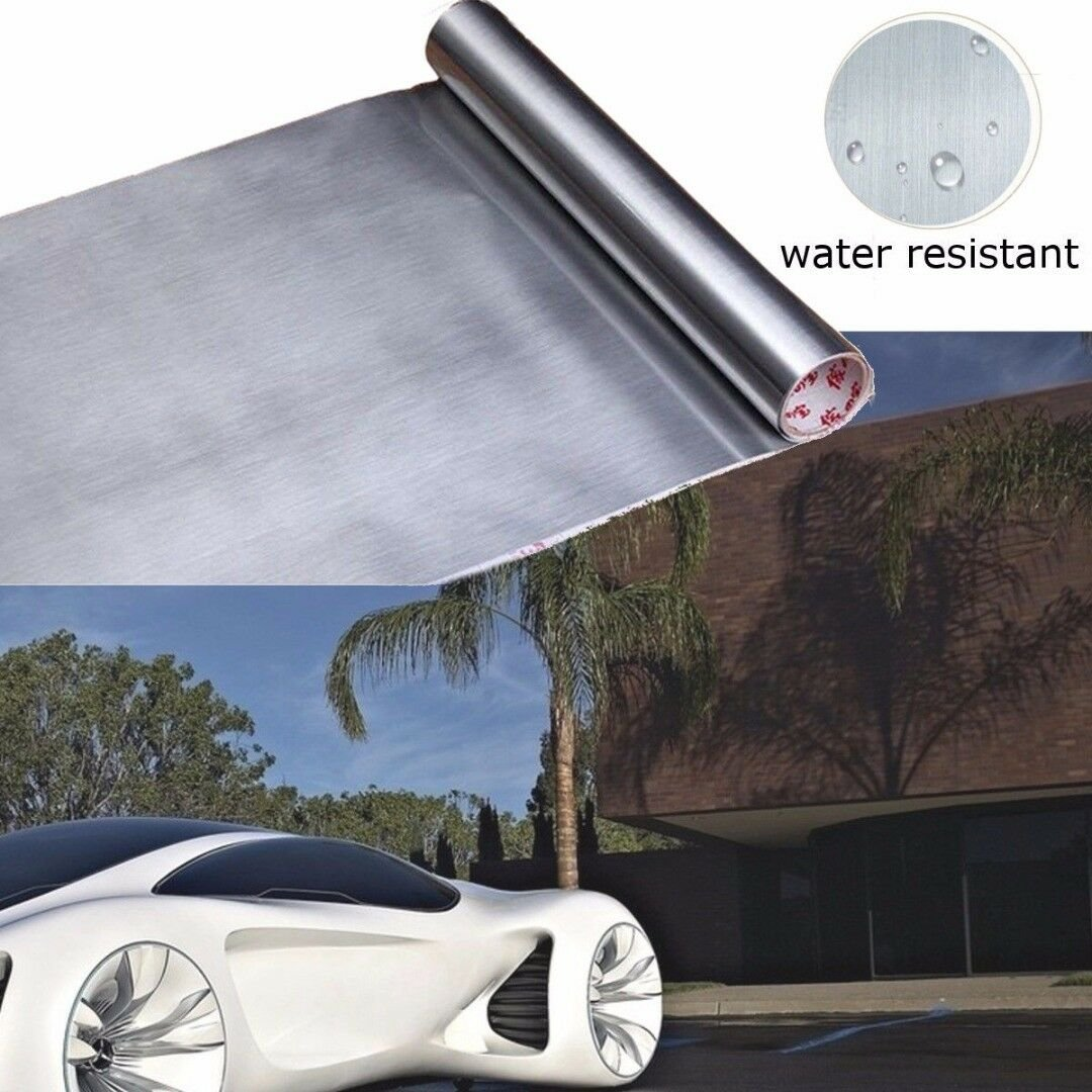 60cm*3m Brushed Metallic Stainless Steel Contact Paper Peel Sticker Silver Kit