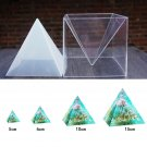 Super Pyramid Silicone Mould DIY Resin Craft Jewelry Mold + Plastic Frame Set