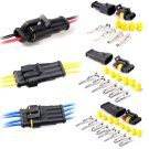 10pcs Kits 2/3 Pin Way Sealed Waterproof Electrical Wire Connector Plug Car Auto