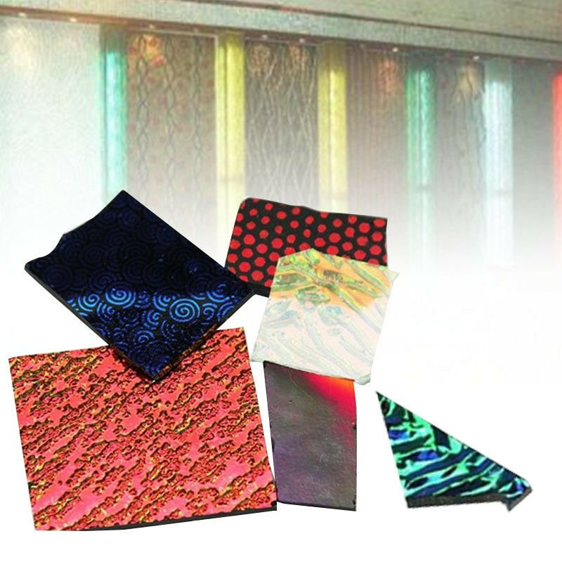 3 bags COE90 Dichroic Glass Mix Color & Shapes Fusing in Glass Microwave Kiln