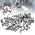 50pcs Silver Stainless Steel Thread Repair Insert Kit Set M3 M4 M5 M6 M8 M10 M12