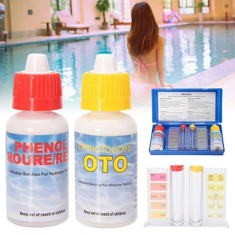 PH Chlorine Water Quality Test Swimming Pool Hydroponics Aquarium Tester Tool