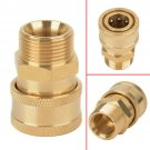 """3/8"""" Quick Release Brass Adapter Connect to M22 Metric For Pressure Washer Hose"""