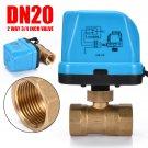 "Brass G3/4"" DN20 3/4 Inch 2 Way 220V Control Motorized Electrical Ball Valve Kit"