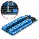 16 Channel 16 CH 5V Relay Shield Module Interface Board Optocoupler for Arduino