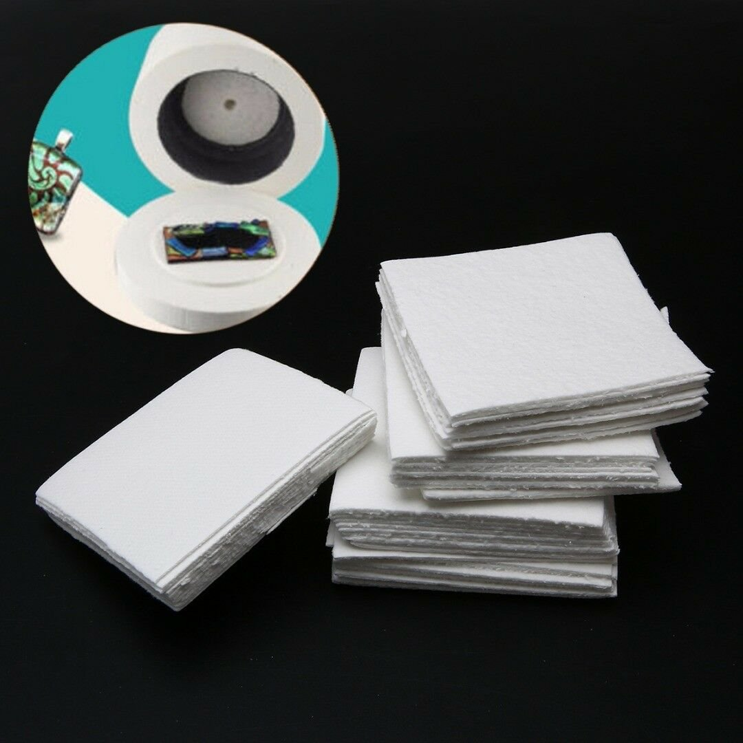 50 Sheets Paper Mat for Microwave Kiln Glass Fusing for DIY Glass Jewellery 8cm