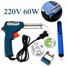 60W 220V  Automatic Send Tin Gun Electric Soldering Iron Rework Station Tool Kit