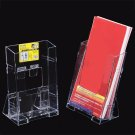 Acrylic Clear Business Card Holder Brochure Desk Stand Pamphlet Display 1/3 A4