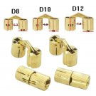 4pcs 10/12mm Brass Hidden Hinge Invisible Hinge Concealed Worktop Home Tool