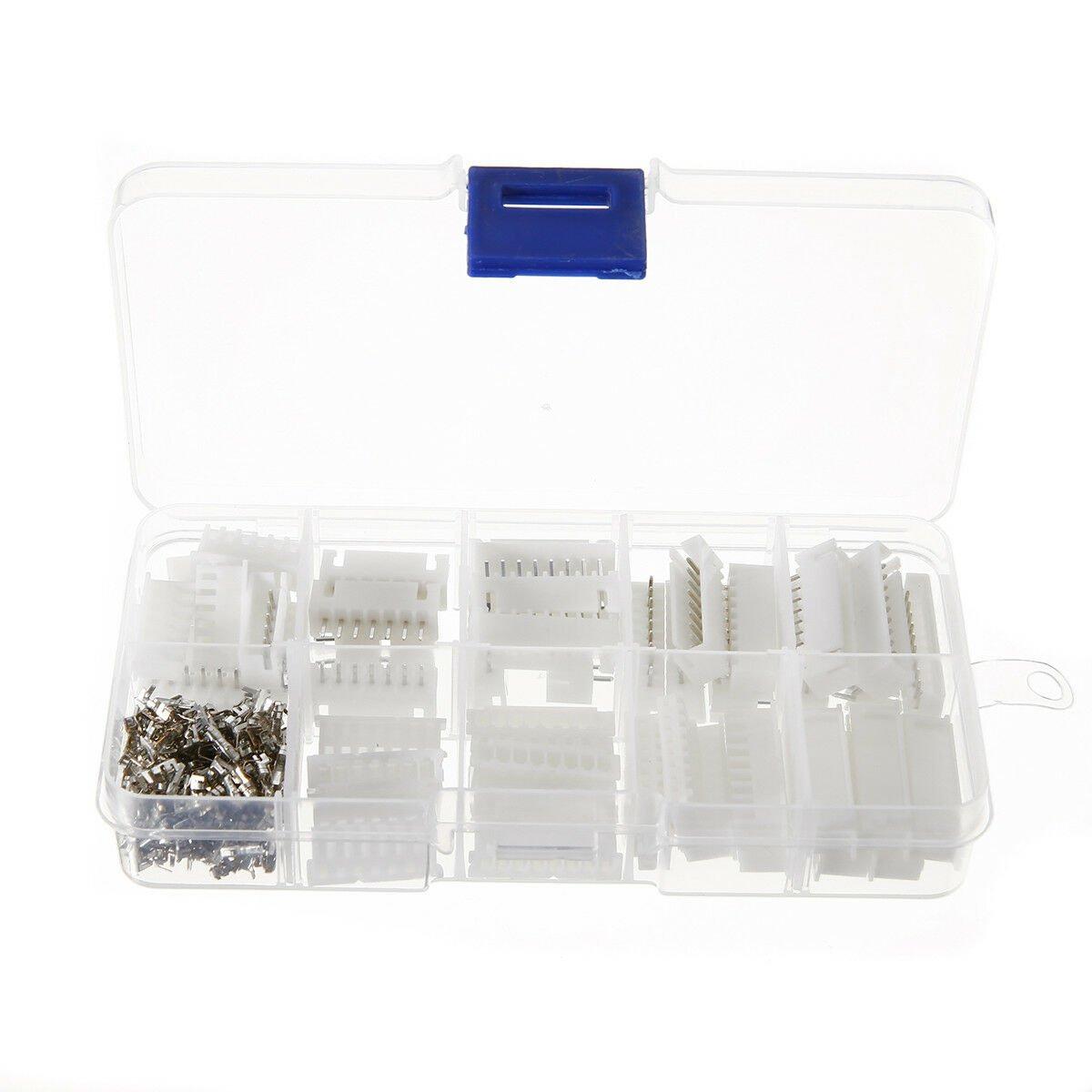 25 Set JST-XH Connector Kits 2.54mm Terminal Housing Pin Header 6-10 Pin Adapter