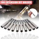 """10pcs 60mm Magnetic Extension Socket Drill Bit Holder 1/4"""" Hex For Power Tools"""