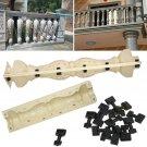 2 Pcs Moulds Balustrades Mold for Concrete Plaster Cement Plastic Casting 60cm