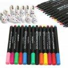 13pcs Fabric Marker Paint Pens Permanent For DIY Textile Clothes T-Shirt Shoes