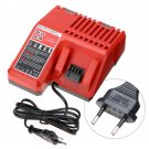 Lithium Li-ion Battery Charger Replacement For Milwaukee M18 Power Tool Red