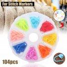 104pcs/set Amazing Knitting Crochet Locking Stitch Needle Clip Markers Holder