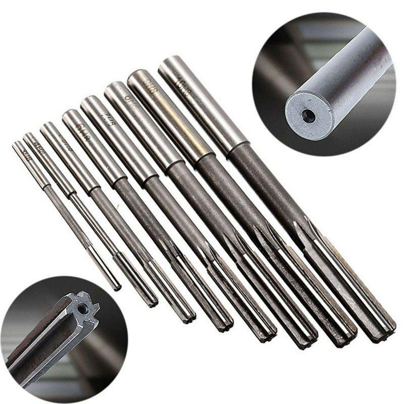 8pcs 3/4/5/6/7/8/9/10mm Straight Shank H8 HSS Chucking Reamers Cutter Tool Set