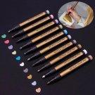 4 Colors DIY Metallic Paint Marker Pens Metallic Sheen Glitter Album Photo Card