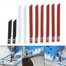 10pcs Jigsaw Blades Set for Decker Jig Saw Metal Plastic Cutting Wood Blade Kit