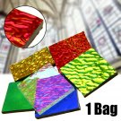 1 bag COE90 Dichroic Glass Mix Color & Shapes Fusing in Glass Microwave Kiln DIY