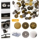 50 Set Jeans Tack Buttons Metal Clothes Accessories Replacement Craft Kit