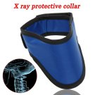 XRay 0.5mmPb Lead Protective Collar Thyroid Radiation Shield Neck Cover Blue