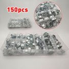 150Pcs 5-20mm Double Ear Hose Clips Hose Clamps Assortment Kit Box 8 Sizes Set