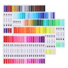 100 Color Twin Tip Brush Marker Pen Based Ink Watercolor Paintbrush Art Supplies
