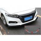 Carbon Fiber Front Bumper Lip Protection Cover Trim 3pcs for Honda Accord 2018