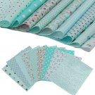 9pcs 25*25cm Blue Cotton Fabric Patchwork Batiks Mixed Bundle Sewing Craft DIY