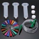 30CC Dispenser Solder Paste Adhesive Glue Syringe Dispensing Needle Tip Kit Set