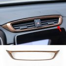 Peach Wood Grain Air Vent Outlet Frame Panel Cover Trim For Honda CRV 2017-2018