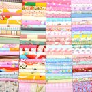 100pcs 12*10cm Floral Cotton Fabric Bundle Patchwork Scraps Quilting Sewing Kit