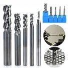 5Pcs 3 Flute HRC50 Solid Carbide End Mill Cutter 2-8mm For CNC Aluminum Milling
