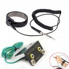 ESD Ring Terminal Cable Anti Static Socket Ground + Anti-static Wrist Strap Kit