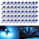 50x Ice Blue T10 Wedge 5-SMD 5050 LED Light bulbs W5W 2825 158 192 168 194
