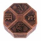 Vintage Puzzle Alloy Box Lock Brain Teaser IQ Test Toys Adults Children Kid Gift