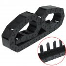 """1M 1000mm 40"""" Black Long Nylon Cable Drag Chain Wire Carrier R38 18*37mm Tool"""